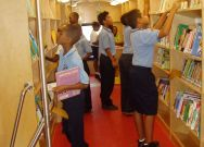 Inside the Bookmobile