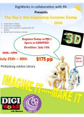 DigiWorkz Summer Camp at the Philipsburg Jubilee Library.