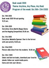 Book Week 2020: Monday, October 19 – Friday, October 23
